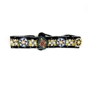 Cinturón de tela con abalorios