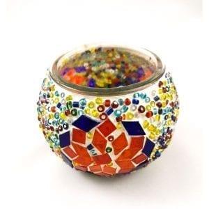Portavelas turco de mosaico