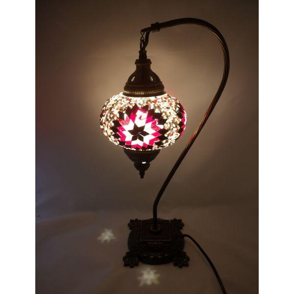 lámpara turca de mesa grande base cuello de cisne