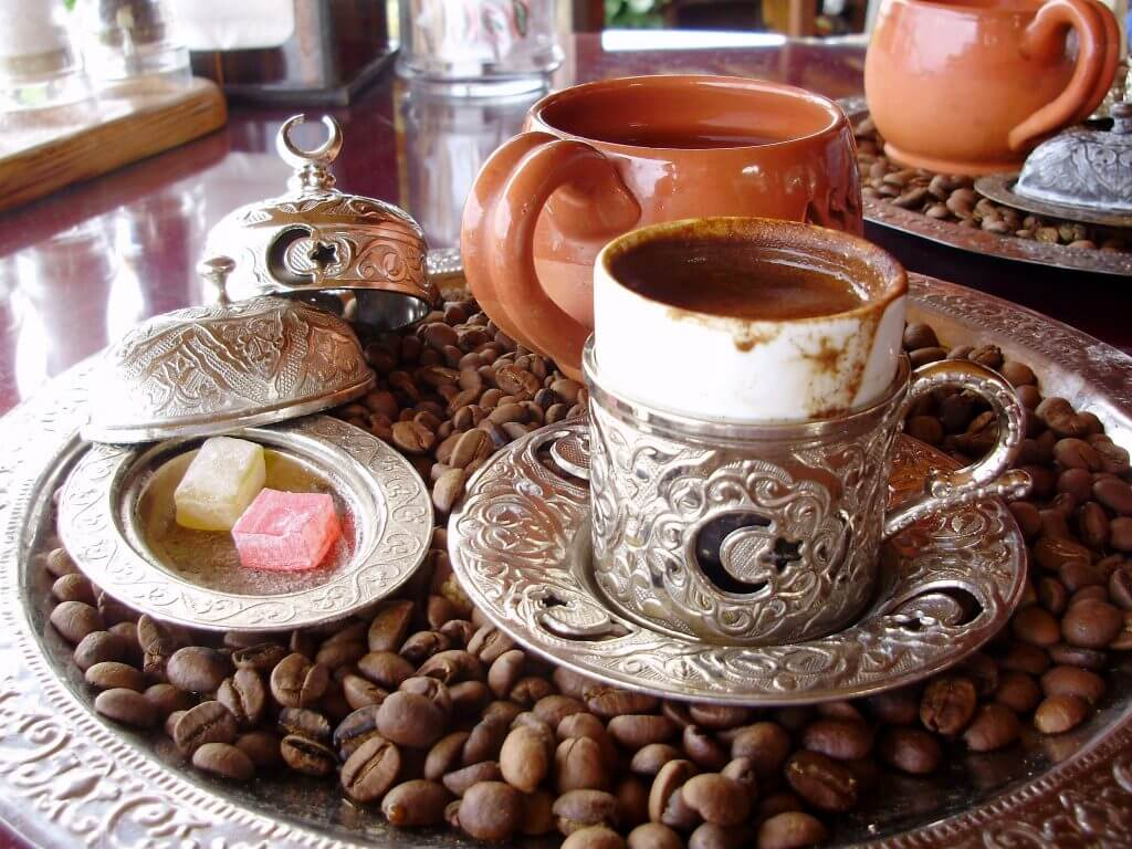 Artesanía de Turquía. Café turco