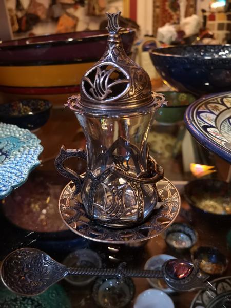 vaso desmontable de té turco