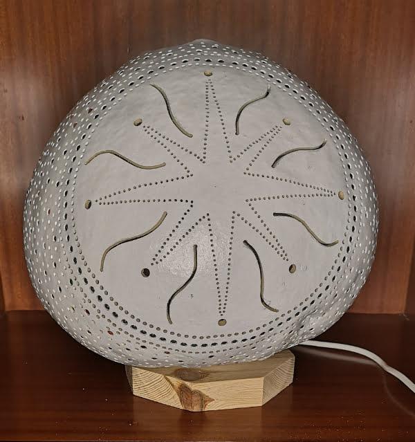 Lámpara de calabaza Bodrum Beyaz