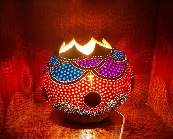 Lámpara de calabaza Bodrum Yesil