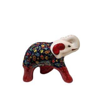 Elefante de cerámica rojo