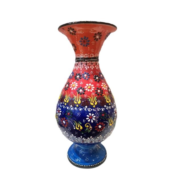 Jarrón de cerámica pintado a mano