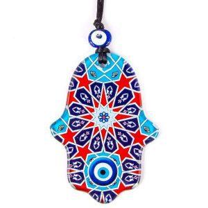 Amuleto mano de Fátima y ojo turco pequeño